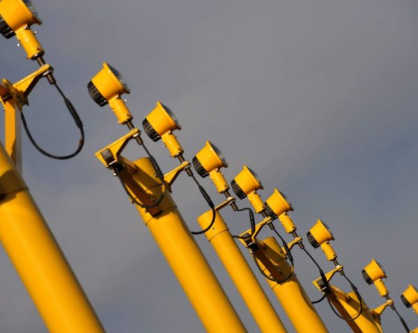 close up of approach masts