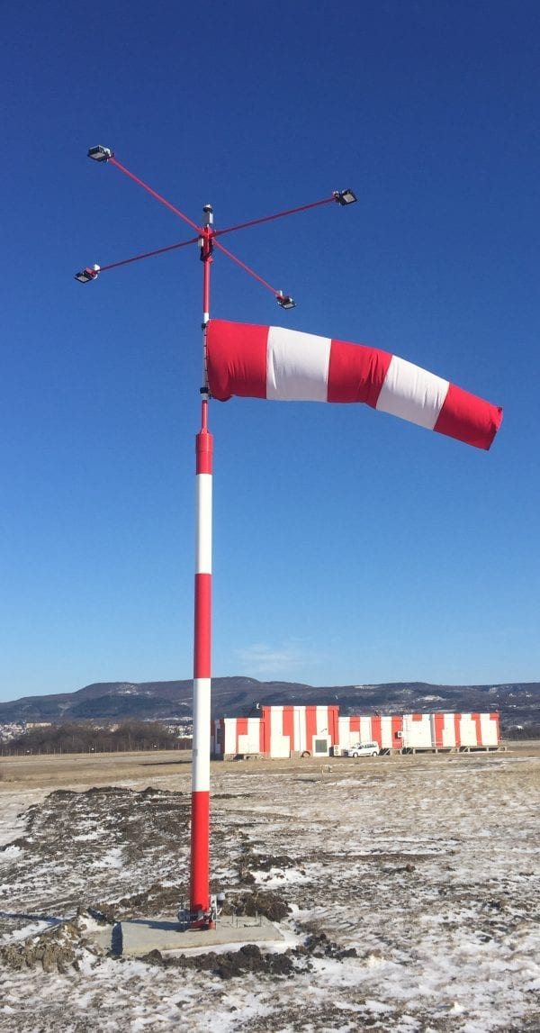 Externally Lit Wind Direction Indicator at Varna