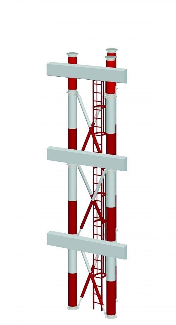 Frangible ILS tower