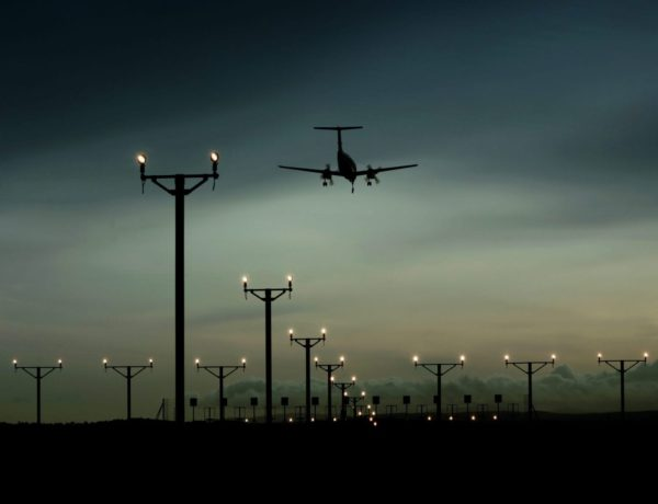 Approach Masts at Night