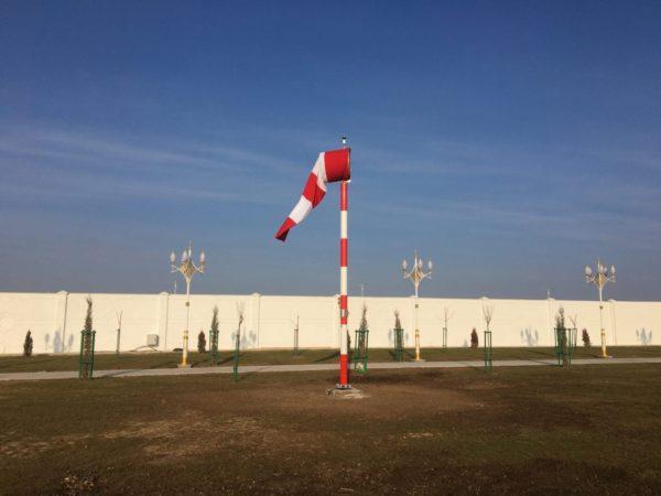 Turkmenistan internally lit windsock